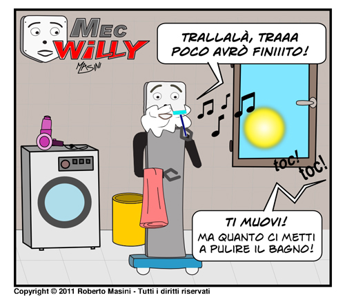 Fumetto MecWilly impeccabile domestico